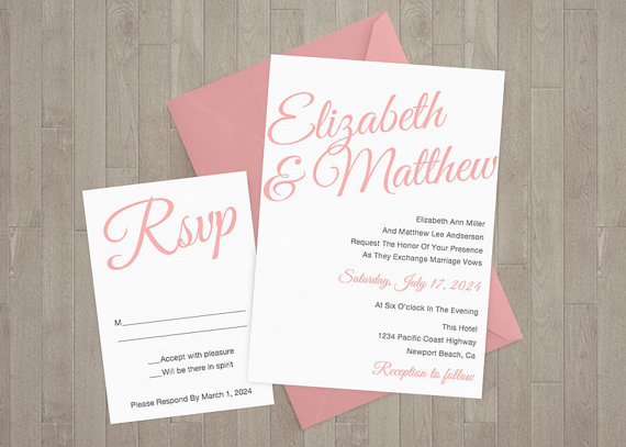 Etsy wedding invitation templates affordable