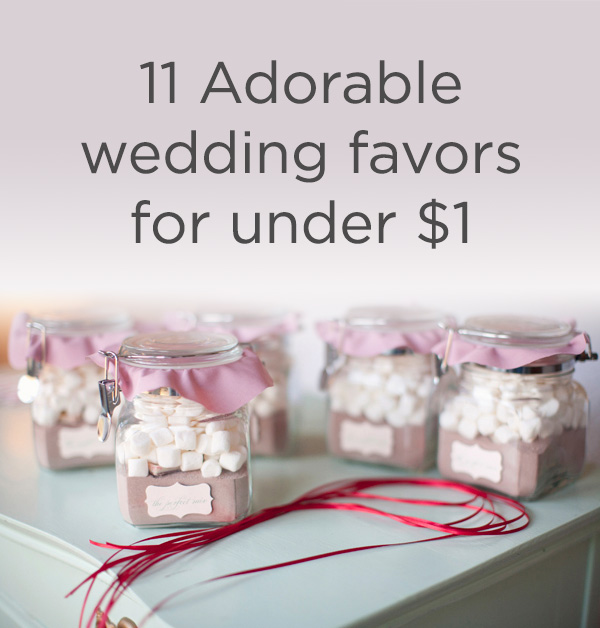 Cheap Wedding Gifts Ideas: Wedding Favors For Under One Dollar