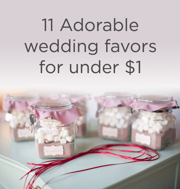 Wedding Favors For Under One Dollar Weddingmix