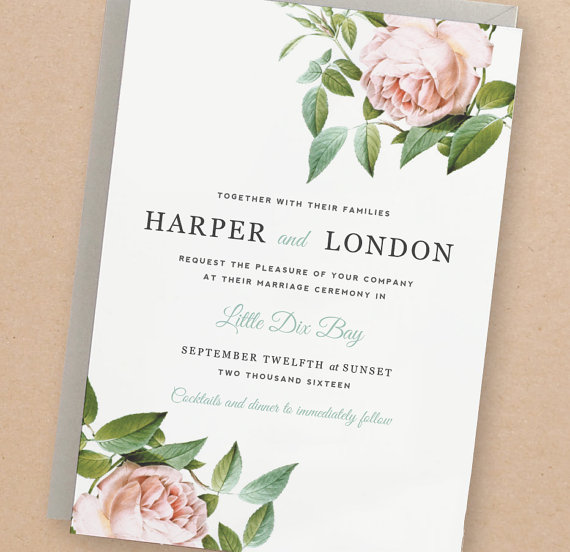 Absolutely Adorable Etsy Wedding Invitation Template Ideas - Cheap wedding invitation templates