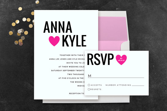 13 Absolutely Adorable Etsy Wedding Invitation Template Ideas