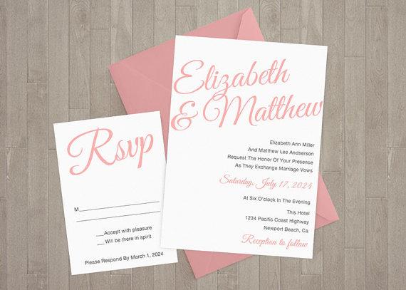 13 Etsy Wedding Invite Templates
