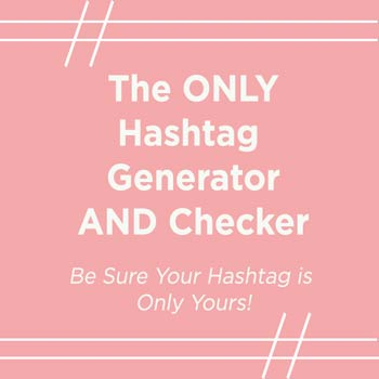 Free instagram hashtag generator and checker