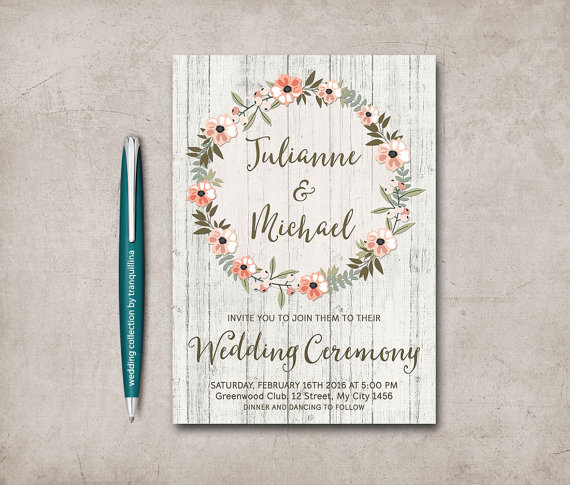 Absolutely Adorable Etsy Wedding Invitation Template Ideas