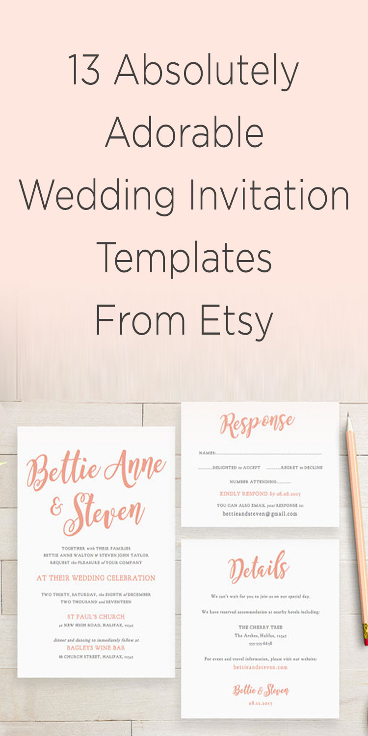 wedding invitation template ideas