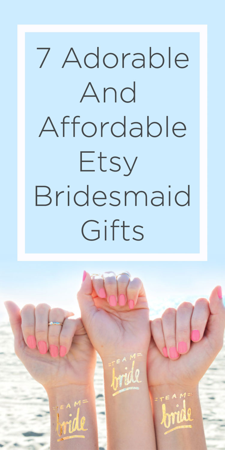 Affordable Etsy Bridesmaid gifts