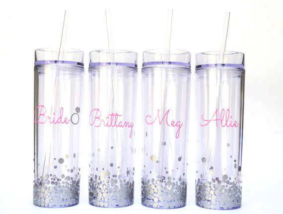 Etsy Bridesmaid gift tumbler set