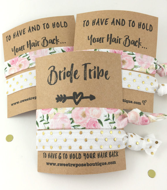 Affordable etsy bridesmaid gift hair tie