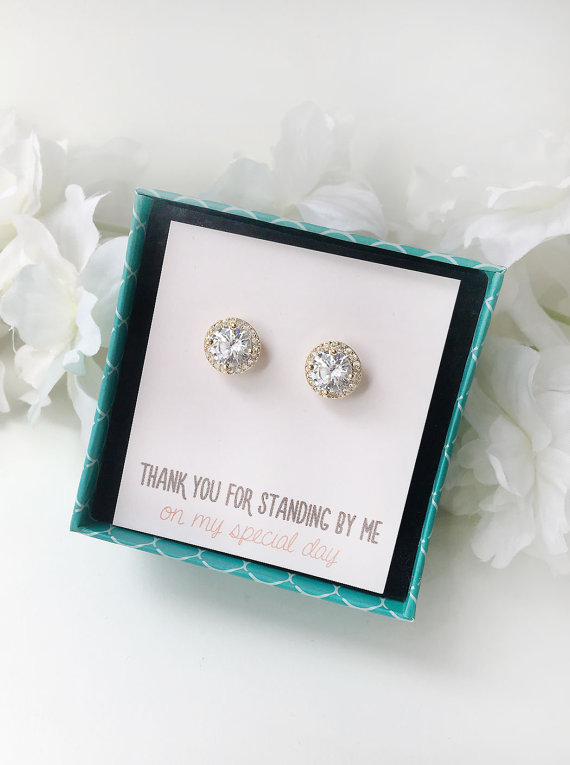 Affordable etsy bridesmaid gift earings
