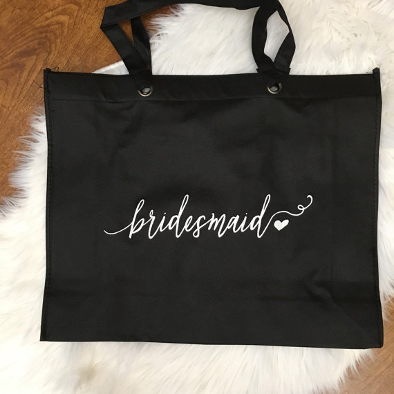 Affordable etsy bridesmaid gift tote bag