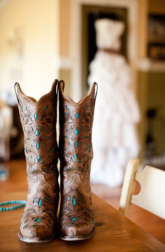 wedding heel alternative cow girl boots