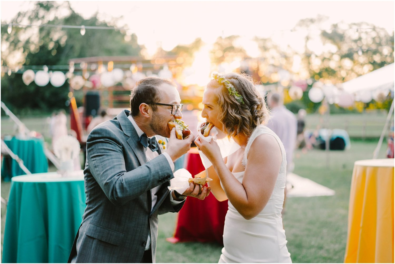 Hot dog cart wedding