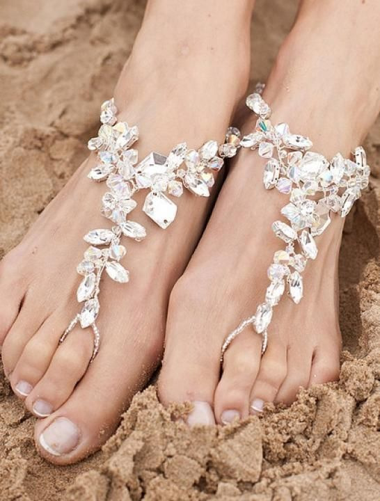 Wedding heel alternative bare foot destination wedding