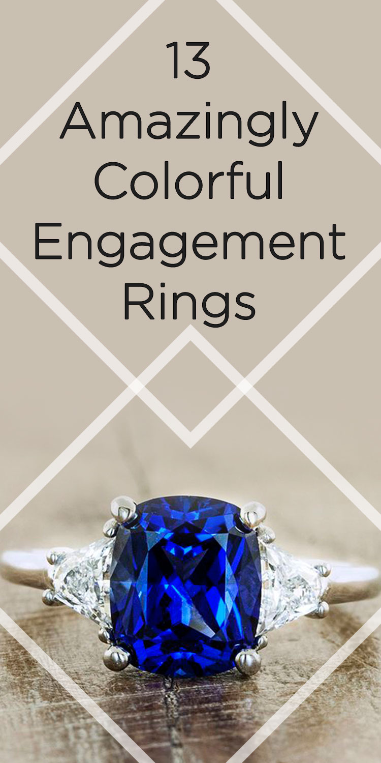 color engagement ring