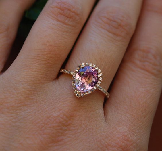 champagne color engagment ring