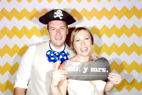 Magical Beach Wedding - Mr and Mrs Photo Booth Pic