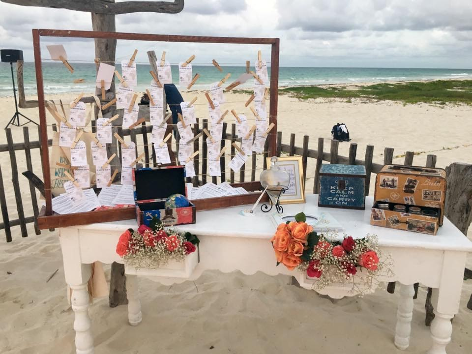 Magical Beach Wedding - Name Cards and Decor