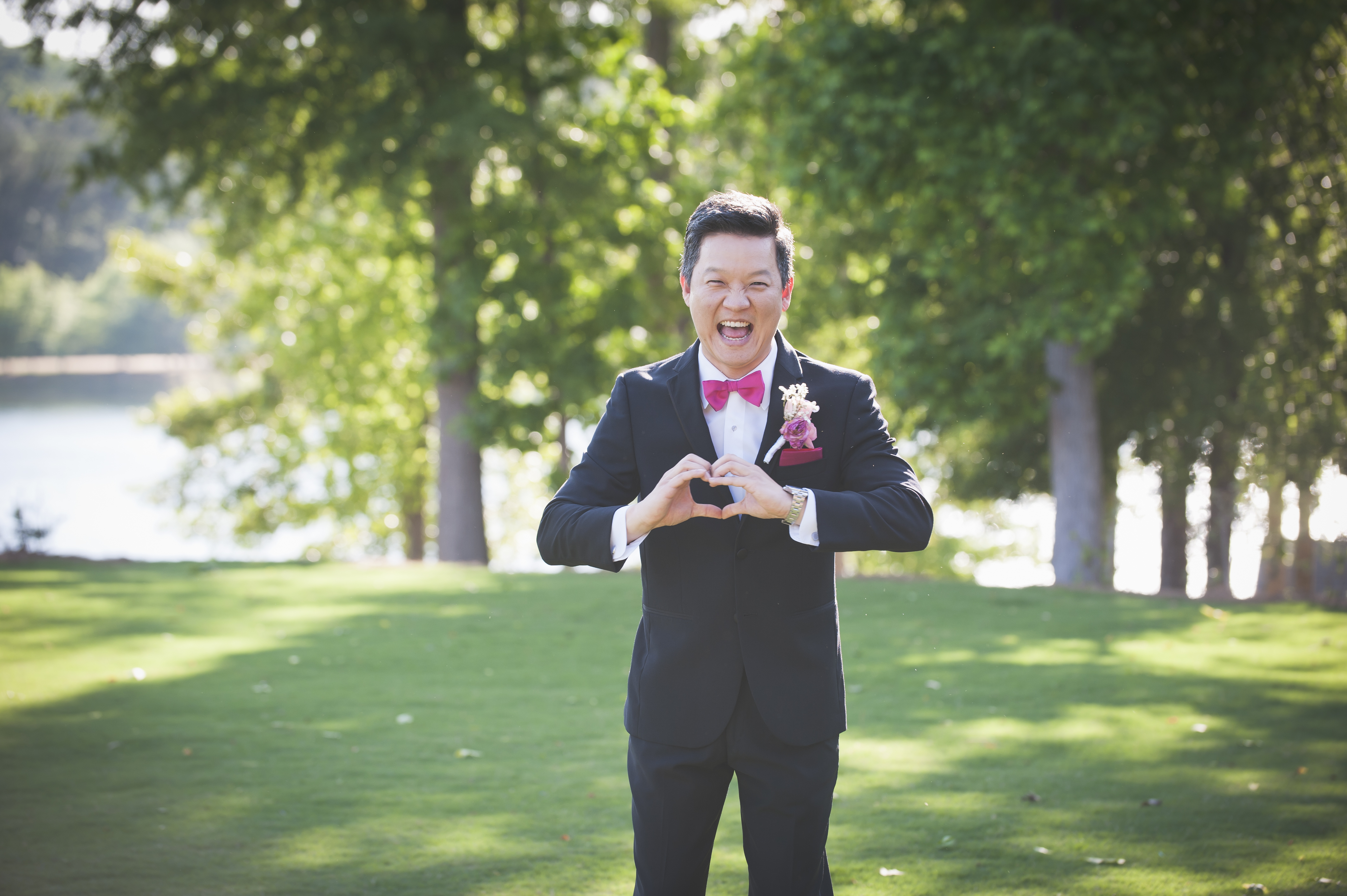 perfect wedding - fun pic of groom