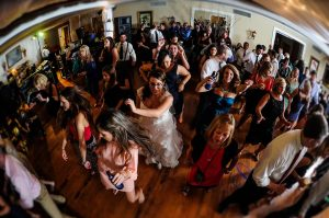 fall wedding video nc dancefloor view