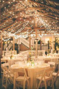 Fall Wedding Reception Space