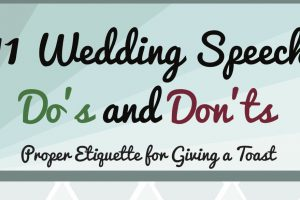 wedding speech infographic