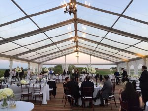 Tent with Guests - Lovely Wedding