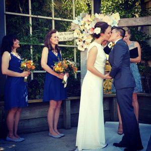 Sausalito wedding video - Ceremony Kiss