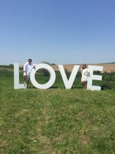 Couple with Love Sign - Lovely Wedding
