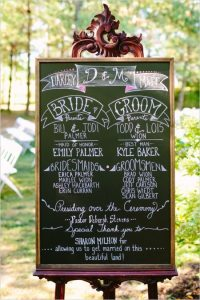 affordable wedding ideas - DIY-chalk-board-program