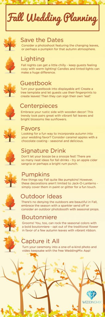 Your Ultimate Guide To A Fall Wedding Weddingmix