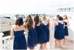 Fun Wedding in Watch Hill, RI - Bride and Bridesmaids