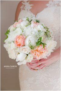 Fun Wedding in Watch Hill, RI - Bride and Bouquet