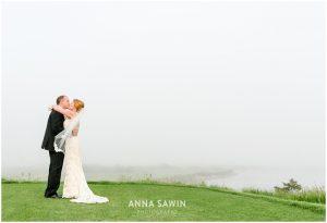 Fun Wedding in Watch Hill, RI - Kiss