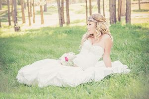 Summer Flower Bouquets - Bride in Forest