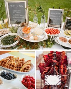 affordable wedding ideas - brunch-weddding-buffet
