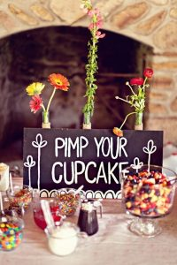 affordable wedding ideas - cupcake-candy-bar