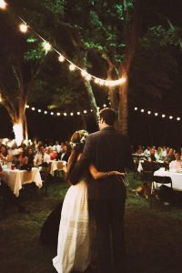 affordable wedding ideas - wedding lights