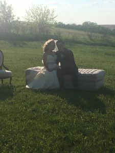 Couple on Couch - Lovely Wedding
