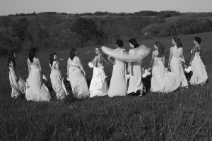 Black and White Photo of Bridesmaids - Lovely Wedding