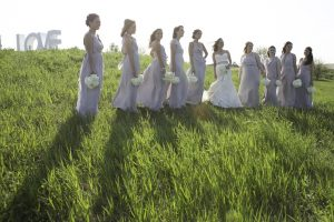 Bridesmaids with Love Sign - Lovely Wedding