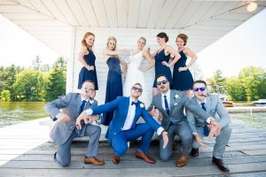 Muskoka wedding video - wedding party