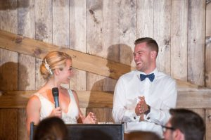 Muskoka wedding video - reception