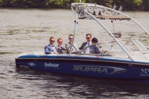 Muskoka wedding video - boat