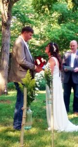 backyard wedding video - couple