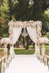 outdoor wedding aisleway - outdoor wedding inspiration