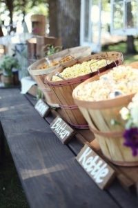 popcorn wedding buffet - outdoor wedding inspiration