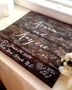 rustic wedding DIY ideas guestbook