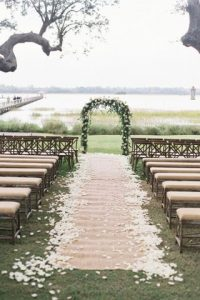 rustic outdoor wedding walkway - outdoor wedding inspiration