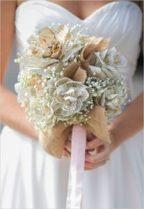 paper flowers wedding bouquet - wedding DIY with instructions