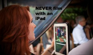 filming with ipad at wedding - wedding smartphone etiquette